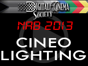 NAB 2013: CINEO LIGHTING NAB 2013